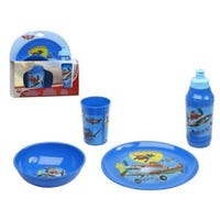Disney Planes Childrens Melamine Tableware 4 Piece Dining Set