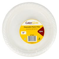 Cater Gold Plastic Plates 12 Pack