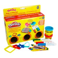 Play Doh Shape and Colour Fun