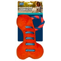 Plush Toy with Squeaker in Orange