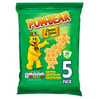 Pom-Bear Potato Snack Cheese and Onion Flavour 5 Pack