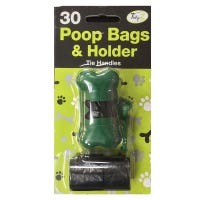 Poop Bags with Dispenser 30 Pack