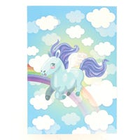 A5 Notebook Unicorn Blue Clouds