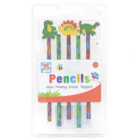 Kids Create Dinosaur Pencils And Erasers 5 Pack