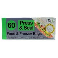 Press And Seal Food Bags 60 Pack