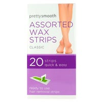 Pretty Smooth Assorted Wax Strips 20 Pack