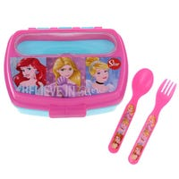 Sandwich Box With Cutlery Disney Princess