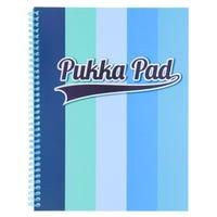 A4 Blue Stripe Pukka Pad Jotter Notebook