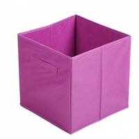 Canvas Storage Cube in Purple