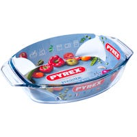 Pyrex Optimum Glass Oval Roaster 35 x 24 x 6.5cm Serves 5
