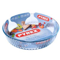 Pyrex Optimum Glass Fluted Flan Dish 2.1L