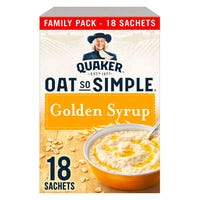 Quaker Oats So Simple Golden Syrup 18 Pack