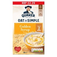 Quaker Oats So Simple Golden Syrup Sachets 8 Pack