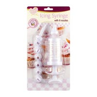 Queen Of Cakes Icing Syringe with 8 Nozzles