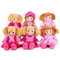 Soft Plush Rag Doll 6 Assorted 51cm