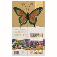 Butterfly Rainbow Garden Stake Set