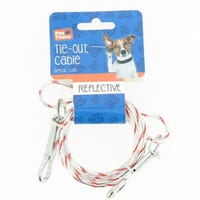 Reflective Tie Out Cable Red 1.5m