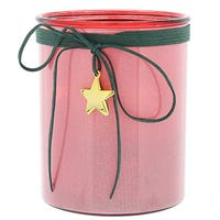 5 Led Star Lantern Red 15cm