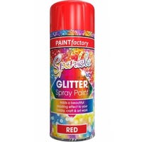 Sparkle Glitter Spray Paint Red