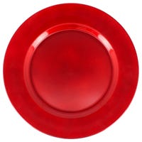 Premium Charger Plate in Red 33cm