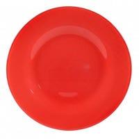 Glass Dinner Plate Red 27cm