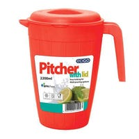 Edgo Pink Pitcher With Lid 2200ml