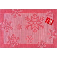Christmas Jacquard Placemat Red Snowflake