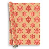 Christmas Premium Gift Wrap Red Snowflake 2m