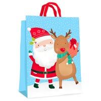 Christmas Santa and Rudolph Gift Bag