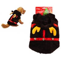 Pet Plush Reindeer Outfit for Dogs