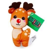 Christmas Mini Plush Reindeer Figure 10cm