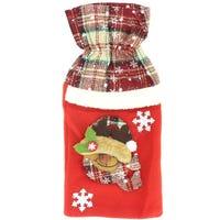 Bottle Bag Reindeer Check