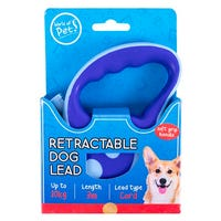 Retractable Dog Lead in Blue 3m