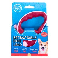 Retractable Dog Lead in Pink 3m