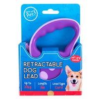 Retractable Dog Lead in Purple 3m