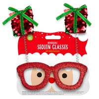 Reversible Sequin Christmas Presents Glasses