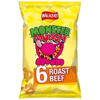 Walkers Monster Munch Roast Beef 6 Pack