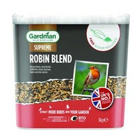 Gardman Supreme Robin Blend Bird Food 3kg