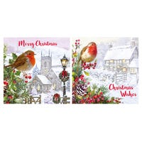 Winter Scene Christmas Cards 12 Pack