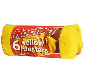 Rochley Pack 6 Yellow Dusters