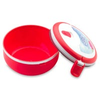 Round Lunch Box in Red