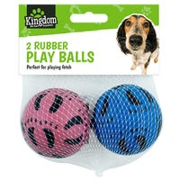 Rubber Play Balls 2 Pack