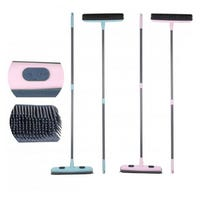 Rubber Broom with Telescopic Handle Assorted