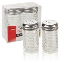 Solid Glass Salt And Pepper Shakers 90ml
