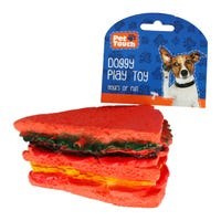 Pet Touch Squeaky Sandwich Dog Toy