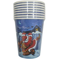 Santa and House Paper Cups 8 Pack