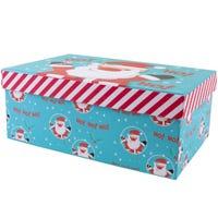Christmas Rectangle Gift Box Santa