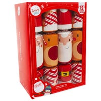 Tinsel Town Santa and Rudolph Christmas Crackers 12 Pack