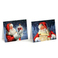 Tom Smith Christmas Traditional Luxury Santa Cards 20 Pack
