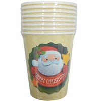 Santa and Star Paper Cup 8 Pack